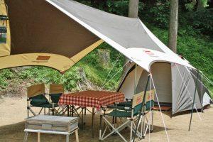 初めてのレンタルキャンプのテントサイト風景